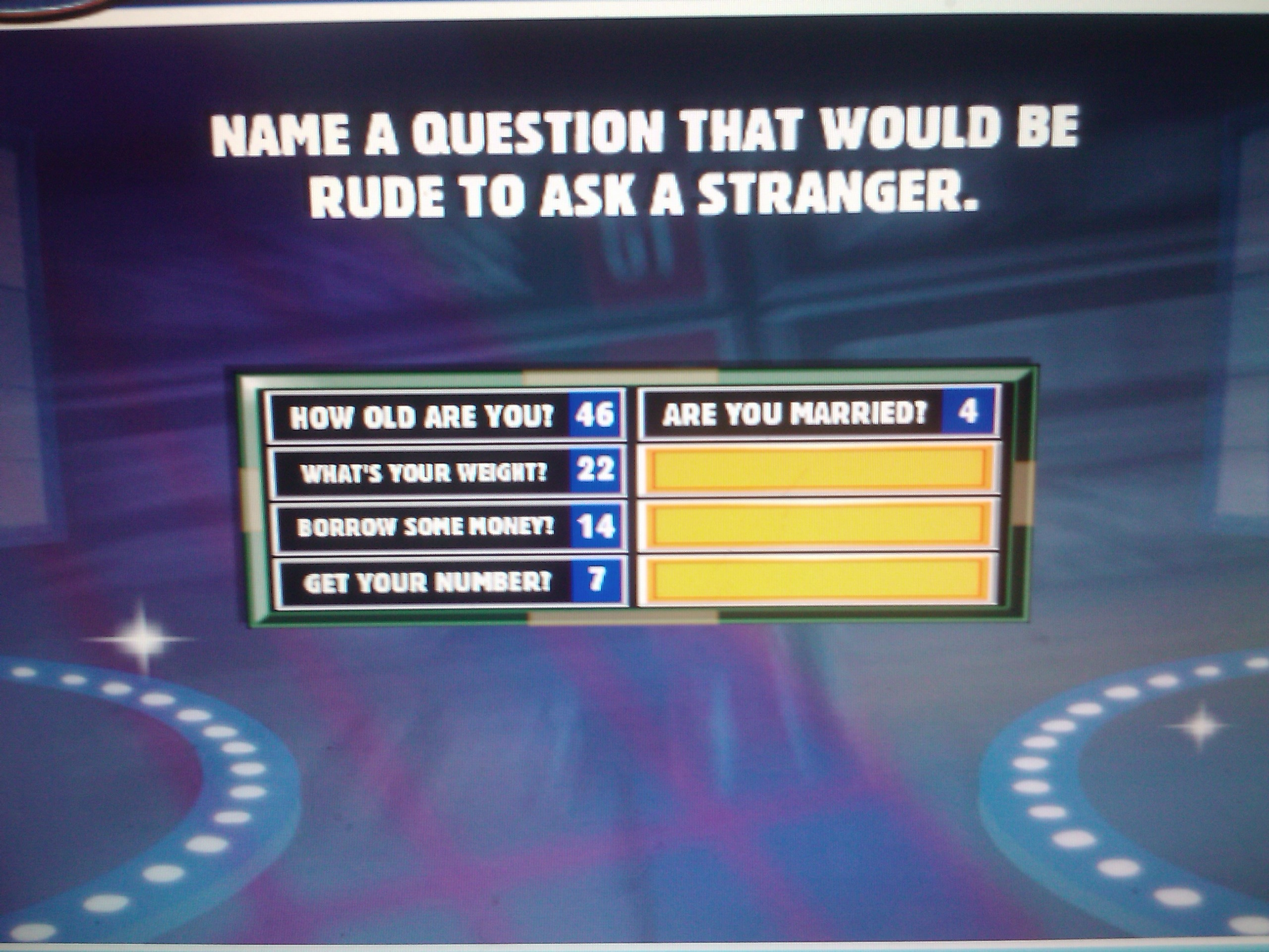 Group of Family Feud Questions And