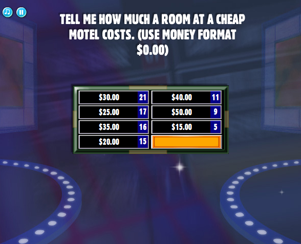 Tell me how much a room at a cheap motel costs  (Use money