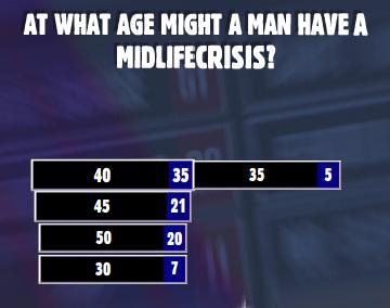 Midlife crisis men age