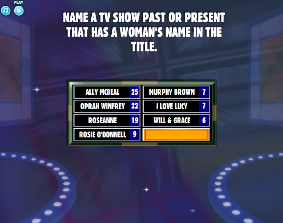 Past or present name a popular television dating show family feud