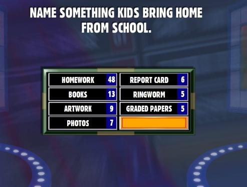 Name Something Kids Bring Home From School  - Family Feud Guide