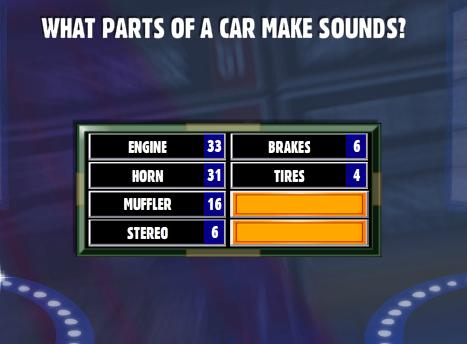 Part Of Car That Makes Noise Family Feud
