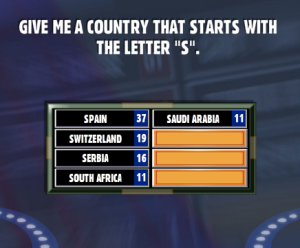 a country that starts with the letter d give me a country that starts with the letter quot s 20317