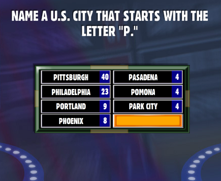 Name A U.S. City That Starts With The Letter