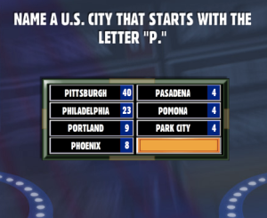 name a u s city that starts with the letter p family