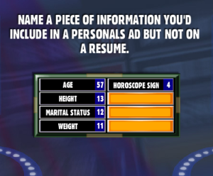name a of information you d include in a personals