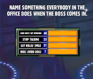 family feud questions and answers for office all